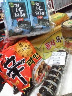 韓国市場。